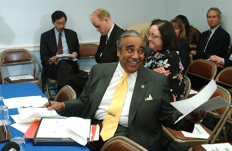 5/22/03.TAX CUT CONFERENCE--House Ways and Means ranking Democrat Charles B. Rangel, D-N.Y., before the conference..CONGRESSIONAL QUARTERLY PHOTO BY SCOTT J. FERRELL