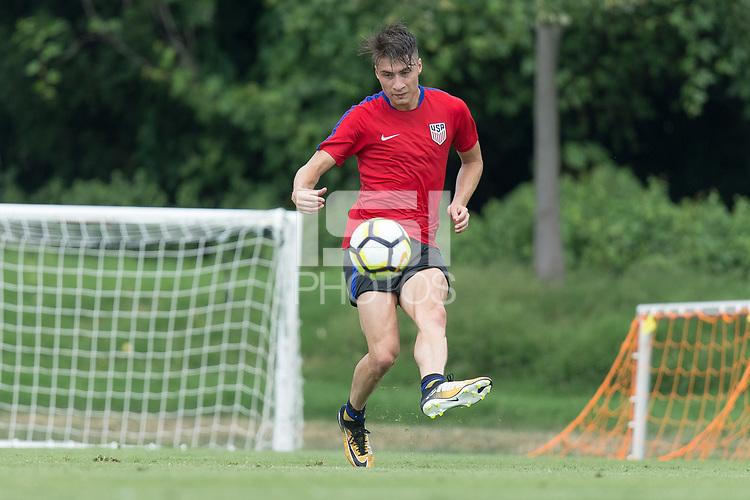 Philadelphia, PA - Monday July 17, 2017: Jorge Villafaña during Training @ UPenn Rhodes Field.