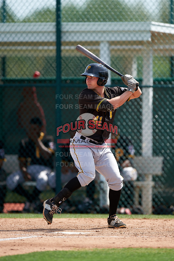 Pittsburgh Pirates Garrett Russini (41) during a minor league Spring Training intrasquad game on April 3, 2016 at Pirate City in Bradenton, Florida.  (Mike Janes/Four Seam Images)