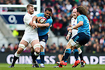 England's George Kruis and Italy's Kelly Haimona - RBS 6 Nations - England vs Italy - Twickenham Stadium - London - 14/02/2015 - Pic Charlie Forgham-Bailey/Sportimage