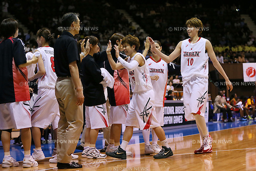 Japan Women's team group (JPN), <br /> JUNE 30, 2013 - Basketball : <br /> International Basketball Japan Games 2013 <br /> between Japan Women's 78-61 Mozambique Women's <br /> at 2nd Yoyogi Gymnasium, Tokyo, Japan. <br /> (Photo by YUTAKA/AFLO SPORT)
