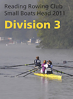 Reading Rowing Club Small Boats Head 2011-Div 3