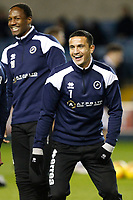 Tim Cahill of Millwall warms up during the Sky Bet Championship match between Millwall and Sheff Wednesday at The Den, London, England on 20 February 2018. Photo by Carlton Myrie.