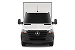 Car photography straight front view of a 2019 Mercedes Benz Sprinter-Box-Van - 2 Door Chassis Cab Front View