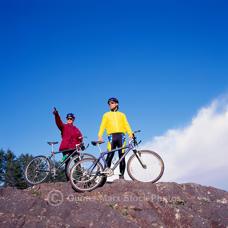 Mountain Biking on West Coast of Vancouver Island, BC, British Columbia, Canada (Model Released)