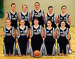 Scruffys St. Pauls basketball team who play in  the National Cup final against Tralee Imperials in Dublin this weekend.  Front from left are Emer Buckley, Mairead Finnegan, Muiriosa Galwey, (Capt) Mags Cronin and Cassandra Buckley. Back from left are Caitriona O'Connell, Katryn Canty, Sinead O'Connell, Marian O'Callaghan and Lynn Jones. Picture: Eamonn Keogh ( MacMonagle, Killarney)