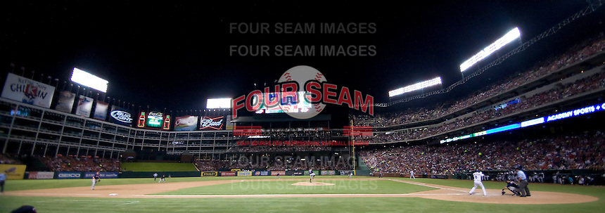 Rangers Ballpark in Arlington, Texas on July 27, 2011.  (Andrew Woolley/Four Seam Images)