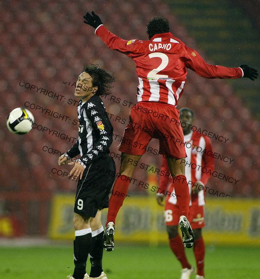 Fudbal, Jelen super liga, sezona 2009/2010.Crvena Zvezda Vs. Partizan.Cleverson Cordova Cleo and Savio, right.Beograd, 28.11.2009..foto: Srdjan Stevanovic/Starsportphoto ©