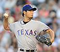 Yu Darvish (Rangers),<br /> AUGUST 6, 2013 - MLB :<br /> Yu Darvish of the Texas Rangers pitches during the Major League Baseball game against the Los Angeles Angels at Angel Stadium in Anaheim, California, United States. (Photo by AFLO)