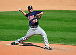 6 September 2009: Minnesota Twins' relief pitcher Jesse Crain on the mound against the Cleveland Indians at Progressive Field in Cleveland, Ohio. The Indians defeated the Twins 3-1 to take the rubber match of their three-game weekend series. Mandatory Credit: Ed Wolfstein Photo