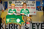 Ballyduff NS and GAA club launch their Night at the Dog fundraiser at the Kingdom Greyhound Stadium in November at the Ballyduff Gaa club on Monday. Pictured Luke Rochford and Jake Rochford