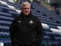 Newcastle United's Manager Steve Bruce  makes his way to the dugout<br /> <br /> Photographer Stephen White/CameraSport<br /> <br /> Football Pre-Season Friendly - Preston North End v Newcastle United - Saturday July 27th 2019 - Deepdale Stadium - Preston<br /> <br /> World Copyright © 2019 CameraSport. All rights reserved. 43 Linden Ave. Countesthorpe. Leicester. England. LE8 5PG - Tel: +44 (0) 116 277 4147 - admin@camerasport.com - www.camerasport.com