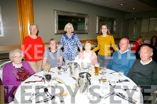 Enjoying the NCBI Lunch at Ballyroe Heights Hotel on Monday were front l-r Nora O'Sullivan, Kay Griffin, Margaret Leen, Pat Leen, Michael Long Back l-r Kay Stack, Theresa Hannon and Moira Long