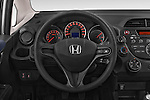Car pictures of steering wheel view of a 2014 Honda Jazz s 5 Door Hatchback 2WD Steering Wheel
