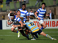 Action from the Auckland Premier 1A secondary schools match between St Kentigern College and Mount Albert Grammar School at St Kentigern College in Auckland, New Zealand on Saturday, 8 July 2017. Photo: Dave Lintott / lintottphoto.co.nz