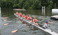 Henley-on-Thames. United Kingdom.  Heat of the Temple Challenge Cup.  University of Virginia  USA. manoeuvre themselves onto the start pontoon for their heat in the Temple Challenge Cup vs Santa Clara University USA. during the  2017 Henley Royal Regatta, Henley Reach, River Thames. <br /> <br /> <br />  Thursday  29/06/2017   <br /> <br /> [Mandatory Credit. Peter SPURRIER/Intersport Images.]