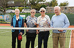 Pictured at the offically opening of the upgraded courts at Westport Tennis Club were Moirin Murphy, Ann Hope, Maighread Costello and John Staunton, all of whom played Tennis at the club back in 50&rsquo;s &amp; 60&rsquo;s.<br />