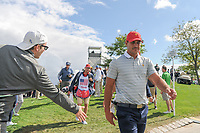 Brooks Koepka (USA) makes his way to 4 during round 3 Four-Ball of the 2017 President's Cup, Liberty National Golf Club, Jersey City, New Jersey, USA. 9/30/2017.<br /> Picture: Golffile | Ken Murray<br /> <br /> All photo usage must carry mandatory copyright credit (&copy; Golffile | Ken Murray)