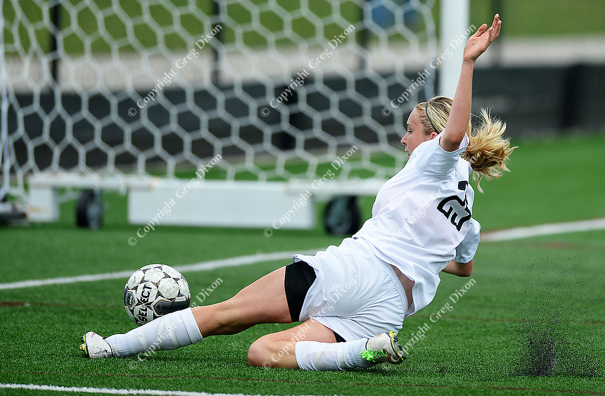 Oregon's Jen Brien is all alone to score the 1st and game winning goal, as Oregon tops Green Bay Southwest 3-0 to win the WIAA Division 2 girls soccer state championship, on Saturday, June 20, 2015 at Uihlein Soccer Park in Milwaukee, Wisconsin