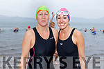 Niamh Murphy and Aisling Brosnan from Churchill about to brave the elements as they take the Polar Plunge in aid of Special Olympics Ireland in Fenit on Sunday morning.