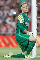 FC Barcelona's Marc-Andre Ter Stegen during Supercup of Spain 1st match.August 14,2015. (ALTERPHOTOS/Acero)