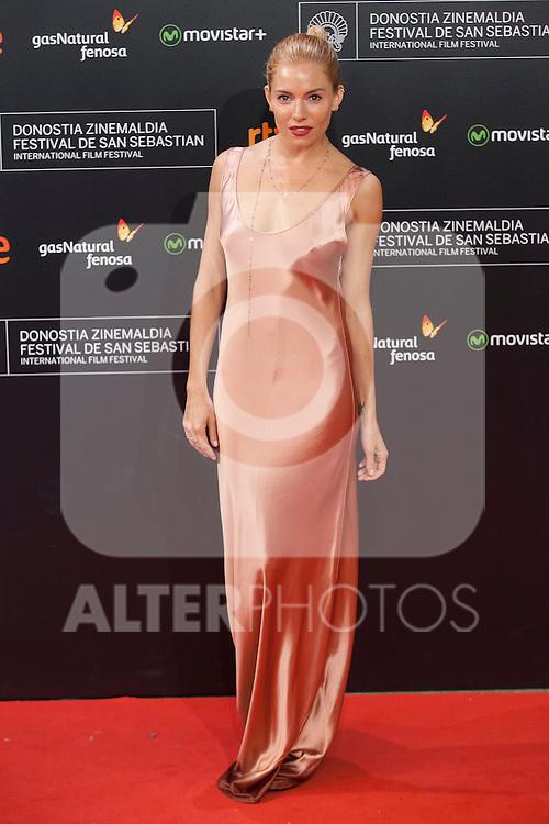 US actress Sienna Miller arrives to `High Rise´ film premiere during 63rd Donostia Zinemaldia (San Sebastian International Film Festival) in San Sebastian, Spain. September 22, 2015. (ALTERPHOTOS/Victor Blanco)