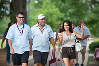 Orientation 2018:  Parents and incoming students walking down Drill Field sidewalks to the start of Day 2 Orientation sessions.<br />  (photo by Megan Bean / &copy; Mississippi State University)