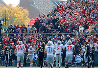 The crowd celebrates a touchdown by Ohio State Buckeyes tight end Jeff Heuerman (86) during the first half of the NCAA football game at Ross-Ade Stadium in West Lafayette, IN on Saturday, November 2, 2013. (Columbus Dispatch photo by Jonathan Quilter)
