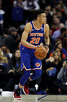 17th January 2019, The O2 Arena, London, England; NBA London Game, Washington Wizards versus New York Knicks; Kevin Knox of the New York Knicks