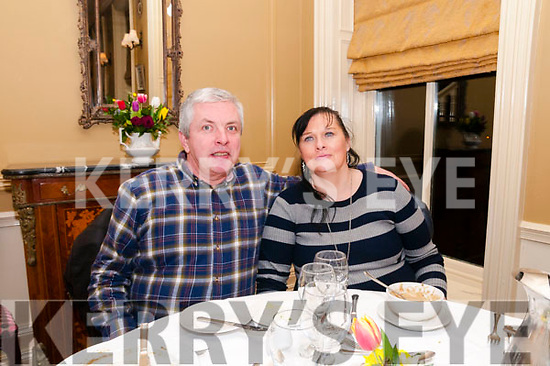 Evening Dinner: John & Christina Curtin enjoying evening dinner at the Listowel Arms Hotel on Saturday night last.