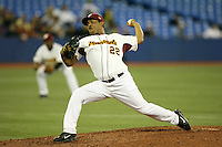 March 8, 2009:  Pitcher Jan Granado (22) of Venezuela during the first round of the World Baseball Classic at the Rogers Centre in Toronto, Ontario, Canada.  Venezuela lost to Team USA 15-6 in both teams second game of the tournament.  Photo by:  Mike Janes/Four Seam Images