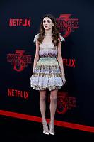 "LOS ANGELES - JUN 28:  Natalia Dyer at the ""Stranger Things"" Season 3 World Premiere at the Santa Monica High School on June 28, 2019 in Santa Monica, CA"