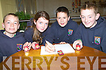 QUIZ WINNERS: The Tuosist Table quiz team who were winner in the Lee Starnd Scór na bPaistí,2014 in Tinteán Theatre,Ballybunion on Sunday l-r: Kieran Harrington, Aishling Rochford, Callum Murphy and Sean Ó Se.