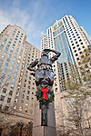 Statue in uptown Charlotte NC