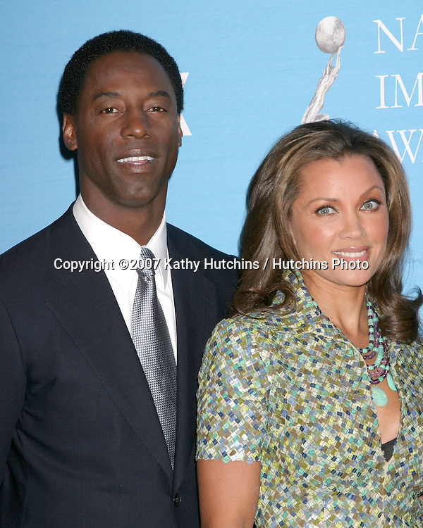 Isaiah Washington & Vanessa L. Williams.NAACP Image Awards Nominations.Pennisula Hotel.Beverly Hills,  CA.January 8, 2007.©2007 Kathy Hutchins / Hutchins Photo....