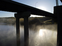 Morning mist on a river can provide a surreal setting, as is the case under the Anthony Hendey bridge on the North Saskatchewan River, one crisp fall morning.