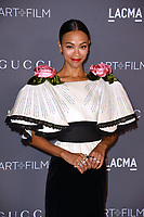 Zoe Saldana at the 2017 LACMA Art+Film Gala at the Los Angeles County Museum of Art, Los Angeles, USA 04 Nov. 2017<br /> Picture: Paul Smith/Featureflash/SilverHub 0208 004 5359 sales@silverhubmedia.com
