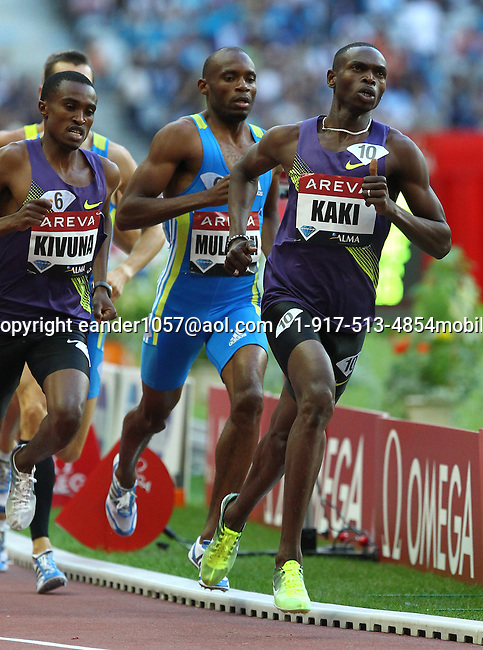 Abubaker Kaki won the 800m in a time of 1:43.50 at the Samsung Diamond League held in Paris, France on Friday, July 16, 2010. Photo by Errol Anderson.