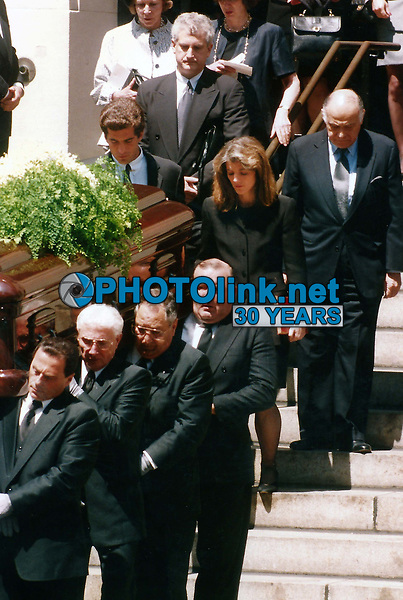CelebrityArchaeology.com<br /> 1994 FILE PHOTO<br /> Jackie O Funeral, <br /> JFK Jr. Caroline Kennedy<br /> Hillary Clinton behind Family<br /> Photo By John Barrett-PHOTOlink.net<br /> -----<br /> CelebrityArchaeology.com, a division of PHOTOlink,<br /> preserving the art and cultural heritage of celebrity<br /> photography from decades past for the historical<br /> benefit of future generations, for these images are<br /> significant, both historically and aesthetically.<br /> ——<br /> Follow us:<br /> www.linkedin.com/in/adamscull<br /> Instagram: CelebrityArchaeology<br /> Blog: CelebrityArchaeology.info<br /> Twitter: celebarcheology