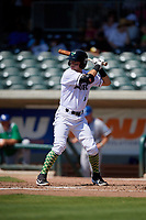Augusta GreenJackets Nico Giarratano (6) at bat during a South Atlantic League game against the Lexington Legends on April 30, 2019 at SRP Park in Augusta, Georgia.  Augusta defeated Lexington 5-1.  (Mike Janes/Four Seam Images)