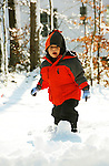 Alex's first day in the snow with the family December 2009.
