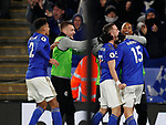 Harvey Barnes of Leicester City celebrates scoring the first goal  during the Premier League match at the King Power Stadium, Leicester. Picture date: 9th March 2020. Picture credit should read: Darren Staples/Sportimage