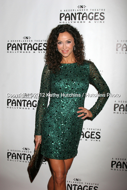 """LOS ANGELES - DEC 4:  Sofia Milos arrives to """"Donny & Marie - Christmas in Los Angeles"""" Opening Night at Pantages Theater on December 4, 2012 in Los Angeles, CA"""