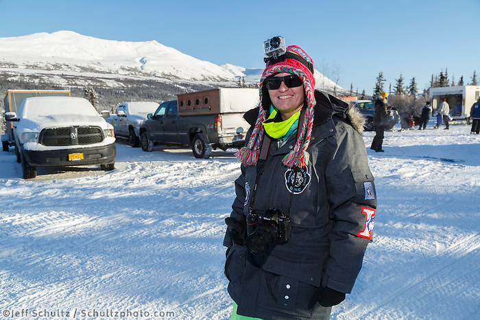 2015  Iditarod Teacher on the Trail Erin Montgomery at the Junior Iditarod start Denali Highway winter<br /> <br /> <br /> <br /> (C) Jeff Schultz/SchultzPhoto.com - ALL RIGHTS RESERVED<br />  DUPLICATION  PROHIBITED  WITHOUT  PERMISSION