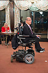 Oct. 23, 2012 - Merrick, New York, U.S. - ROBERT PIPIA (R), in wheelchair, a challenger running for District Court Judge, spoke at the 4th Annual Meet the Candidate Night held by Merrick civic associations. After briefly addressing the audience, each candidate then went to the lobby where individual community members asked more questions.