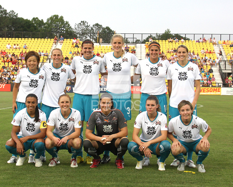 Starting eleven of Marta's XI during the WPS All-Star game against Abby's XI at the KSU Stadium in Kennesaw, Georgia on June 30 2010. Marta XI won 5-2.