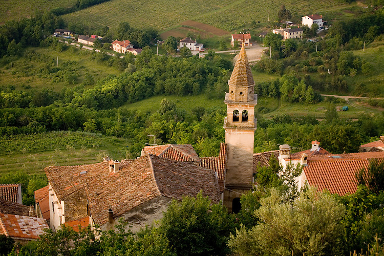 The best known of the Istrian hilltowns of Croatia is Motovun.