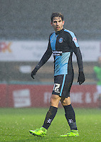 Max Kretzschmar of Wycombe Wanderers during the Sky Bet League 2 match between Wycombe Wanderers and Morecambe at Adams Park, High Wycombe, England on 2 January 2016. Photo by Andy Rowland / PRiME Media Images