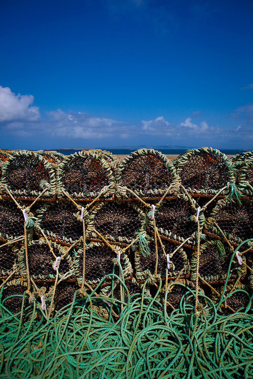 Lobster pots in Fahamore Harbour, Co, Kerry, Ireland