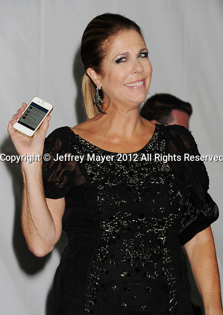 LOS ANGELES, CA - SEPTEMBER 23: Rita Wilson poses in the press room at the 64th Primetime Emmy Awards held at Nokia Theatre L.A. Live on September 23, 2012 in Los Angeles, California.